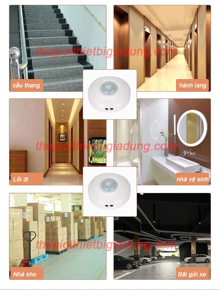 ứng dụng công tắc cảm ứng hồng ngoại DPE