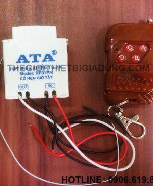 Bộ công tắc điều khiển từ xa bằng remote radio rf ATA AT-RF01PN giá rẻ