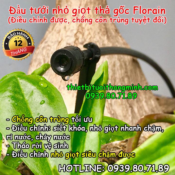 Đầu tưới nhỏ giọt 360 độ chống côn trùng Florain