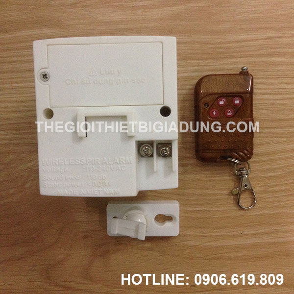 Báo trộm báo khách điều khiển từ xa bằng remote ATA AT229