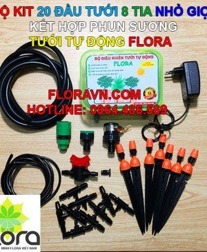 Bộ tưới tự động FLORA 20 vòi tưới 8 tia cắm gốc, phun sương giá rẻ