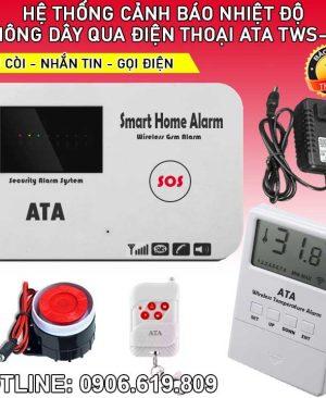 Máy cảnh báo nhiệt độ tăng hú còi qua điện thoại TWS01
