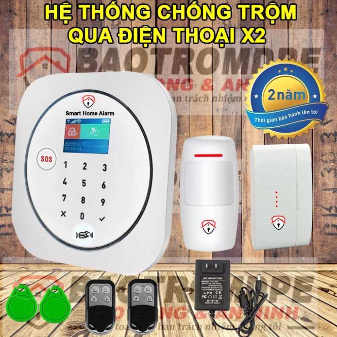 Hệ thống chống trộm gia đình không dây gọi điện thoại DPE X2