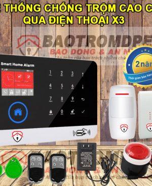 Thiết bị chống trộm gia đình không dây dùng sim DPE X3