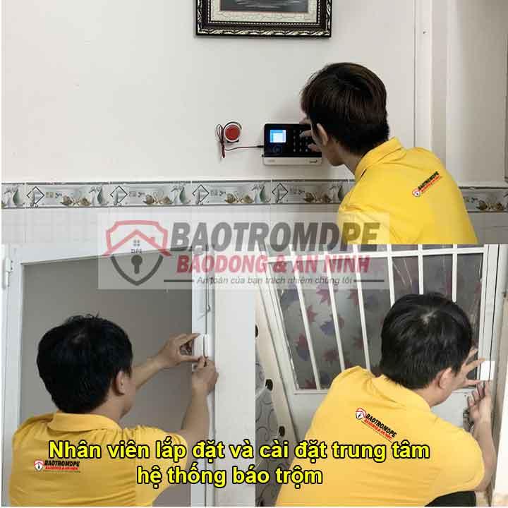 nhân viên lắp đặt hệ thống chống trộm gia đình qua điện thoại